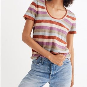 Madewell Alto Scoop Tee in Granda Stripe